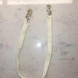etsy Accessories - Swarovski Crystal Stretch Velvet Bridal Belt